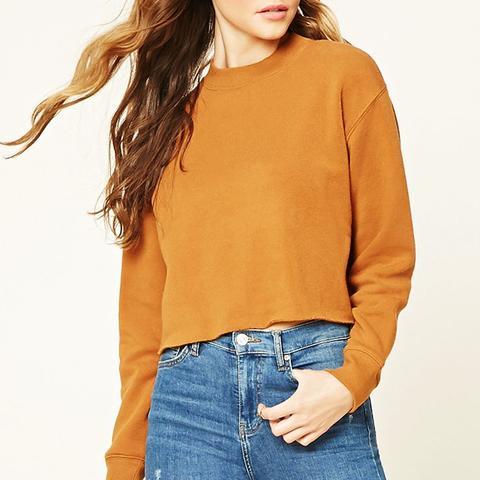 Raw-Cut Fleece Pullover