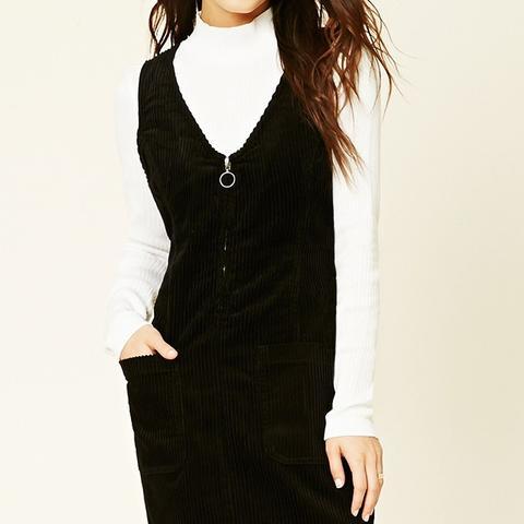 Corduroy Zipper-Ring Dress