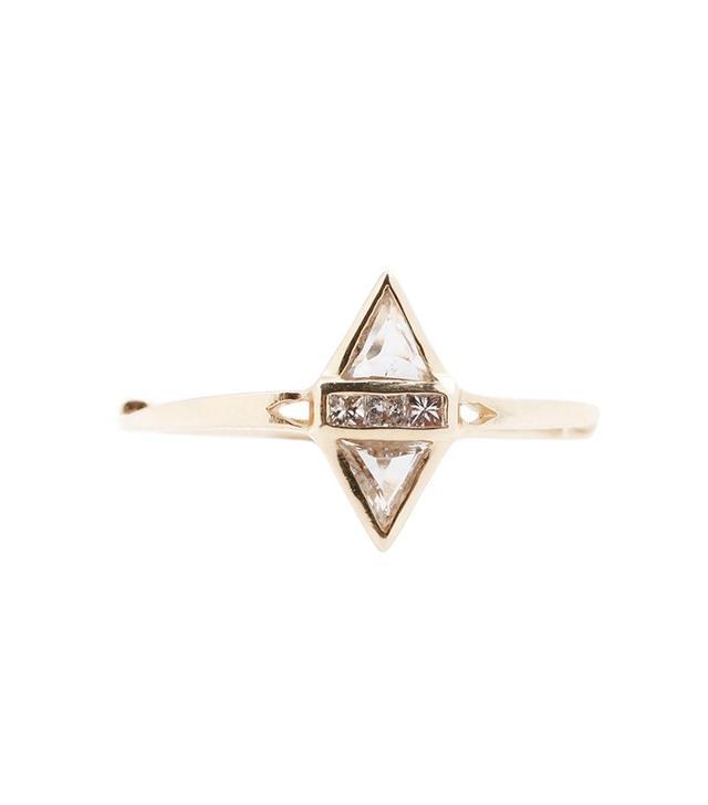 T. Kahres Split Love Diamond Ring