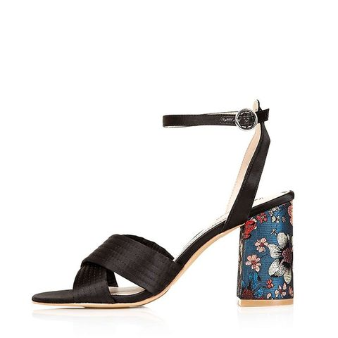 Rich Satin Cross Strap Sandals