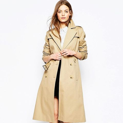 Midi Trench With Retro Styling
