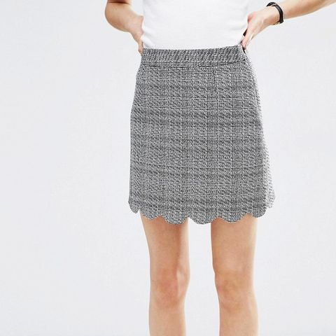 Tweedy Mini Skirt with Scallop Detail Co-ord