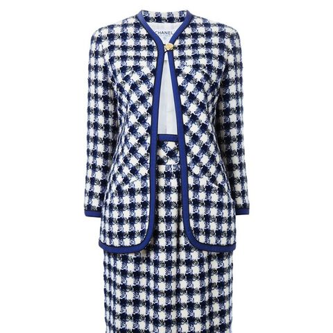 Vintage Checked Skirt Suit