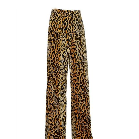 Printed Stretch-Cotton Velvet Pants