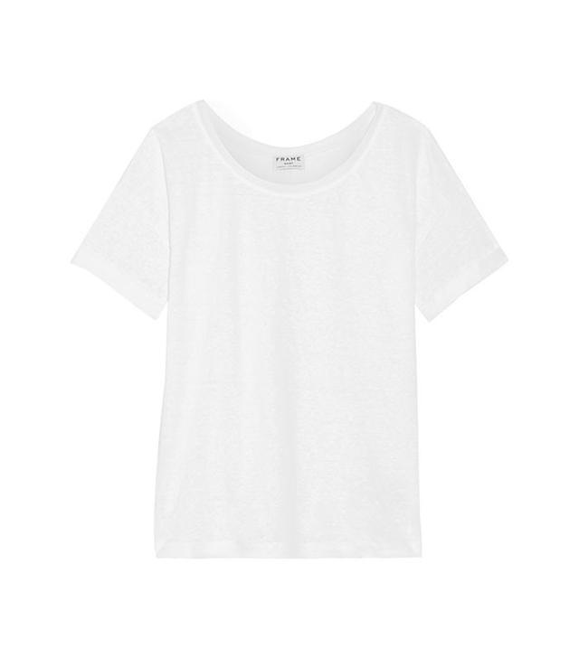 Frame Le Slouchy Linen T-Shirt
