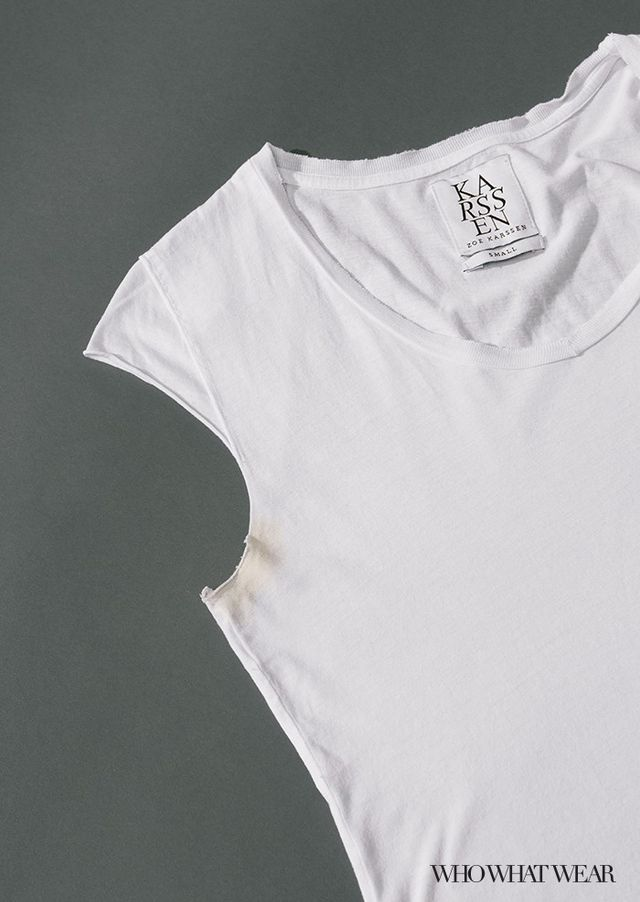 how to get rid of sweat stains on white shirts
