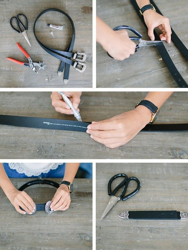 Follow the tutorial from the YouTube video below.  Top tip: You're basically turning two belts into one, which will in fact be two pieces—apiece with two buckles anda...