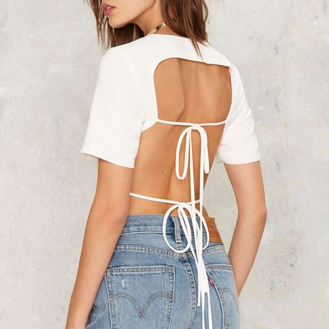 Keep It Open Backless Top