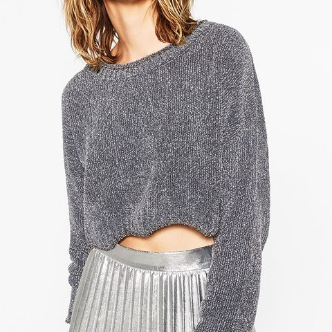 Shiny Cropped Sweater