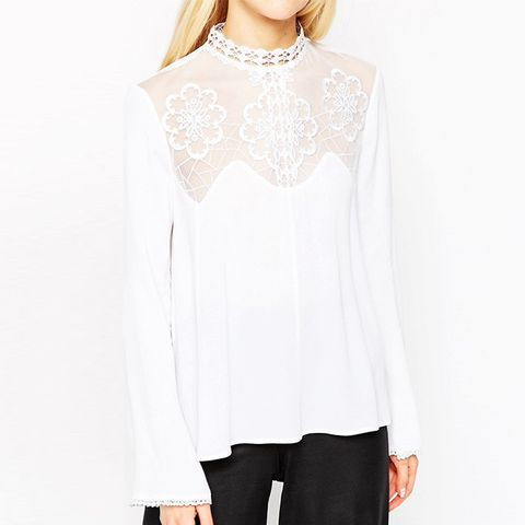 Ultimate Embroidered High Neck Blouse