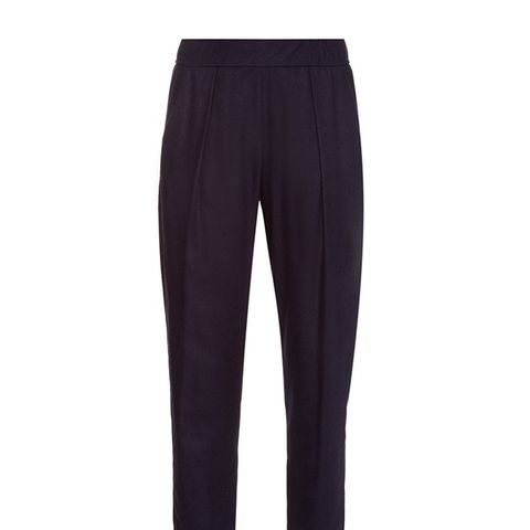 Relaxed Silk-Noil Trousers