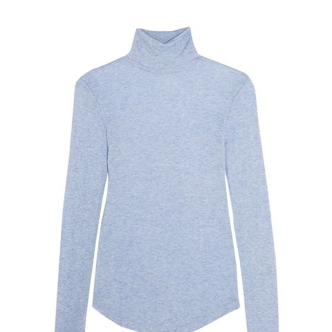 Tencel and Cashmere-Blend Turtleneck Sweater