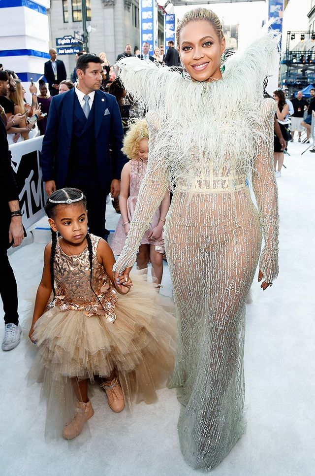 WHO: Beyoncé and Blue Ivy Carter WEAR: Francesco Scognamiglio dress and Lorraine Schwartz jewelry.