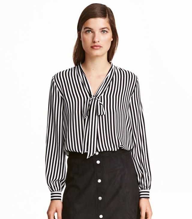 H&M Blouse with Tie
