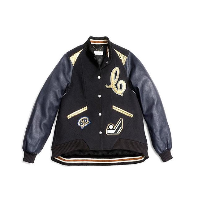 Coach Oversized Varsity Jacket With Metallic Inserts