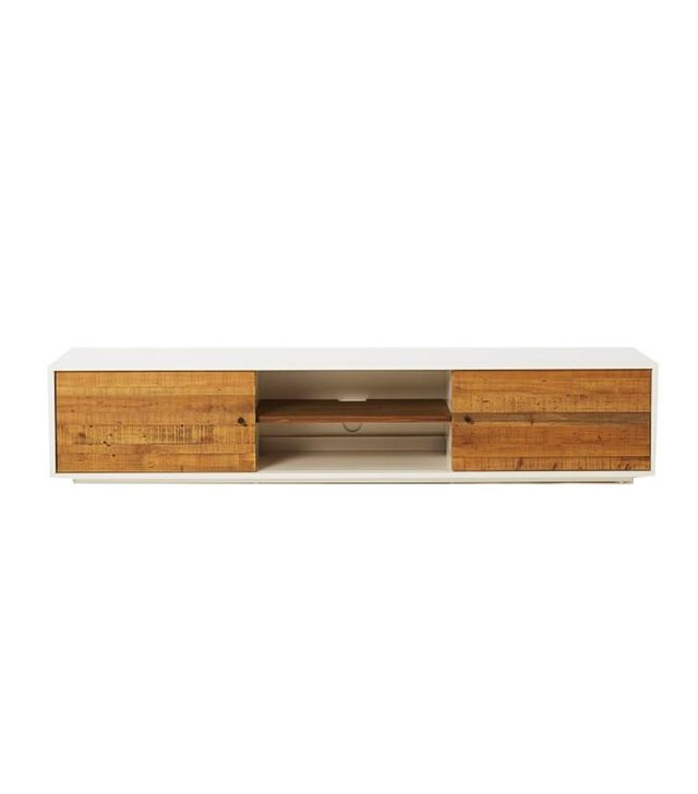 West Elm Reclaimed Wood + Lacquer Media Console