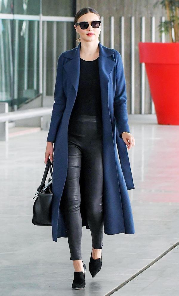 Miranda Kerr airport jacket