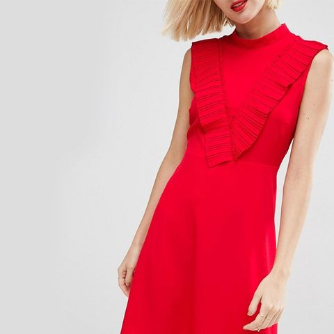 Aline Dress With Pleated Yoke Front