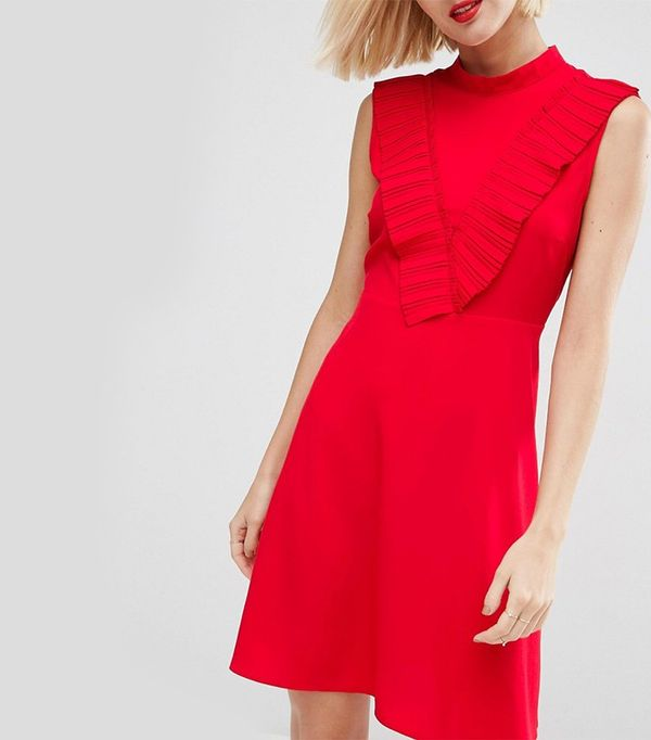 ASOS Aline Dress with Pleated Yoke Front