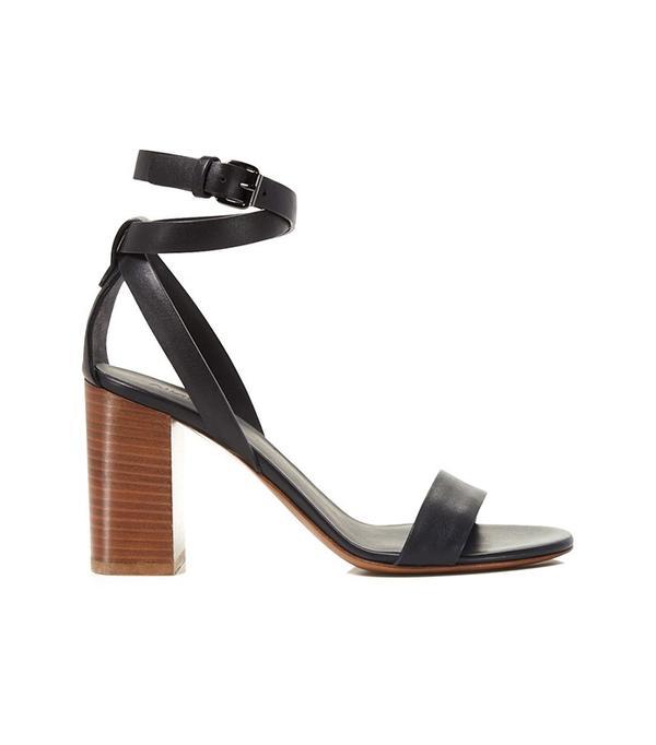Vince Farley Block Heel Ankle Strap Sandals