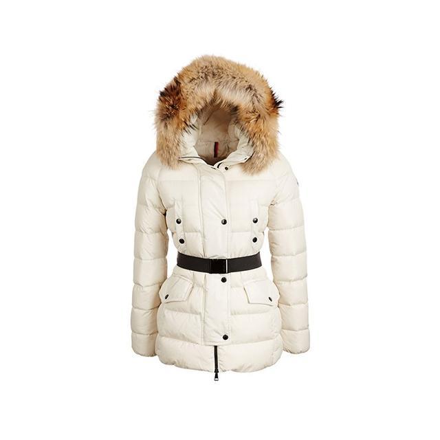 Moncler Clio Fur-Trimmed Puffer Coat