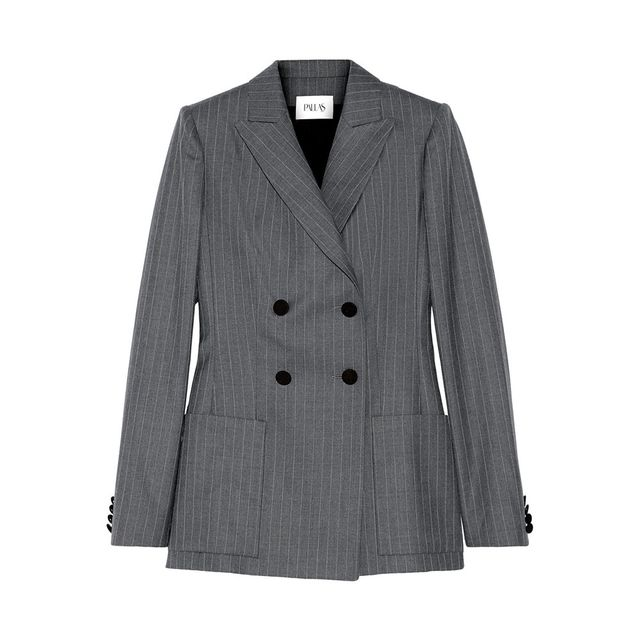Pallas Pinstriped Double-Breasted Wool Blazer