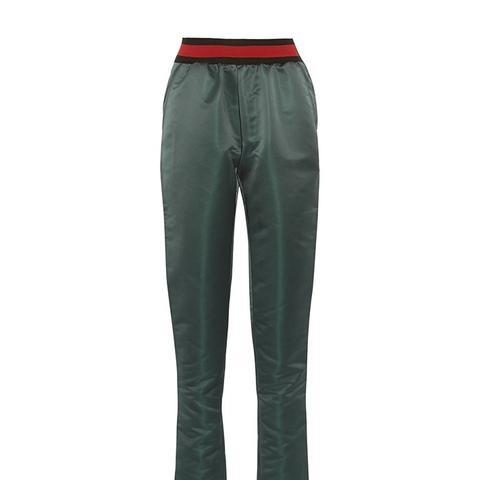 Duchesse-Satin Track Pants