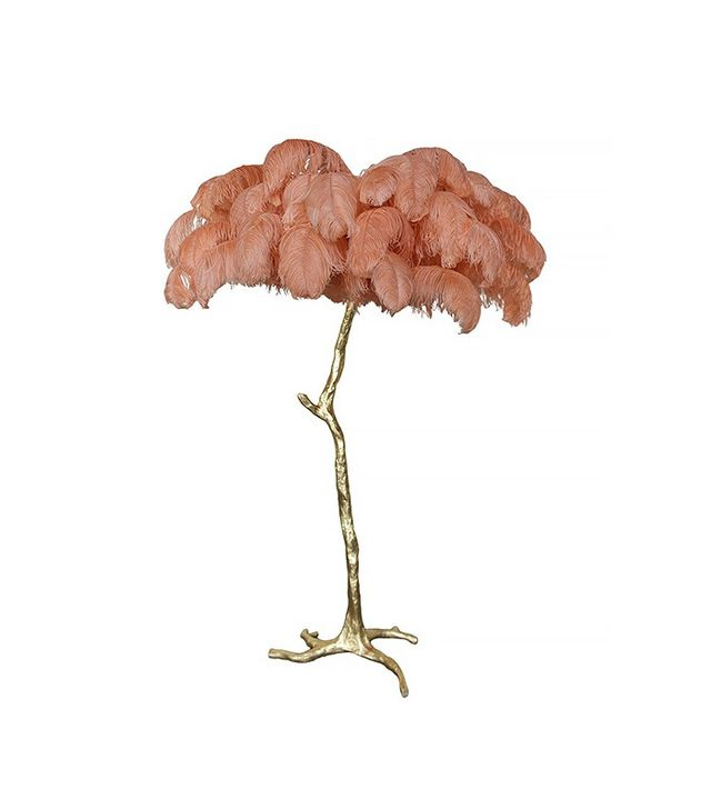 A Modern Grand Tour The Ostrich Feather Lamp in Coral
