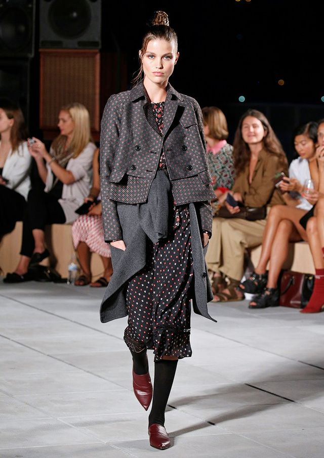Thakoon Dot Embroidery Wool Trench Jacket