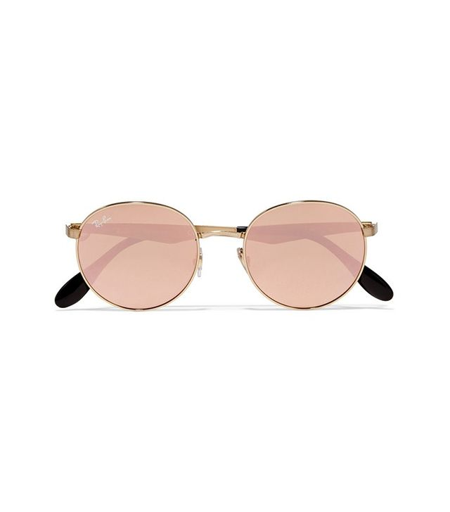 Ray-Ban Round-Frame Mirrored Sunglasses