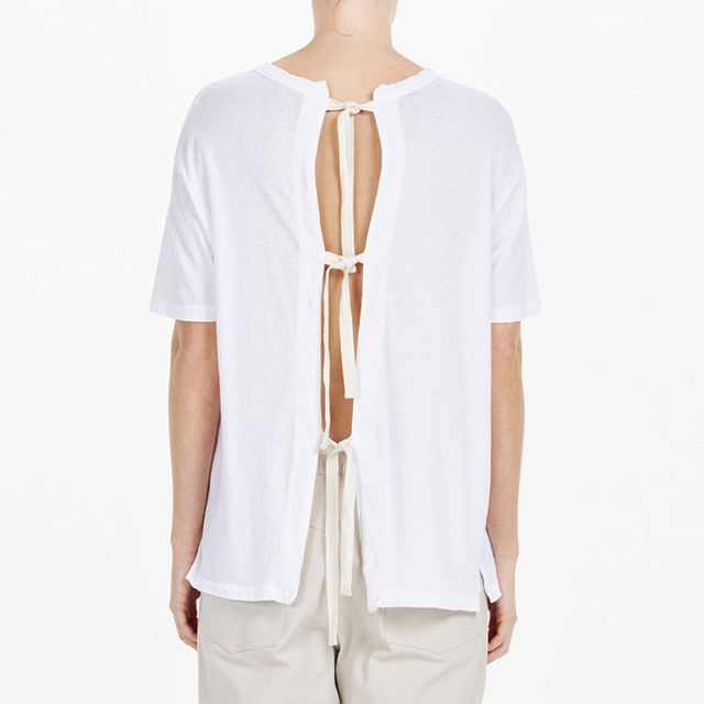 Bassike Oversized Tie Back T-Shirt