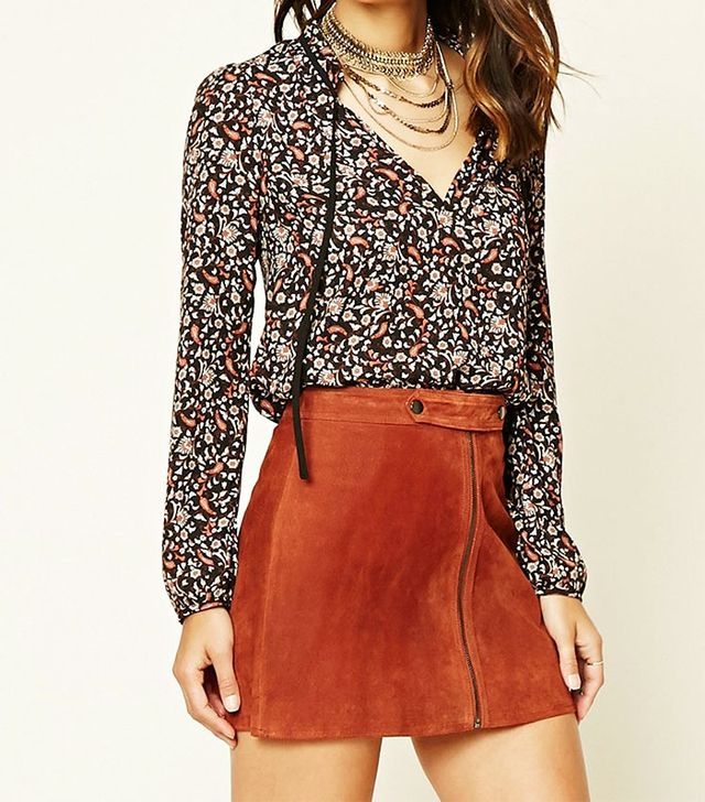 Forever 21 Contemporary Ornate Floral Top
