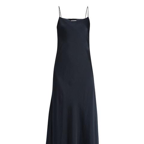 Bias Cut Satin Slip Dress