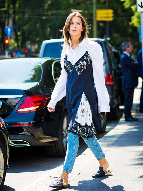 Style Notes: Yup, we're talking about negligées too. To not feel like an extra in a naughty retro movie, we'd suggest taking this tack: Layer over a shirt and jeans. And relax.