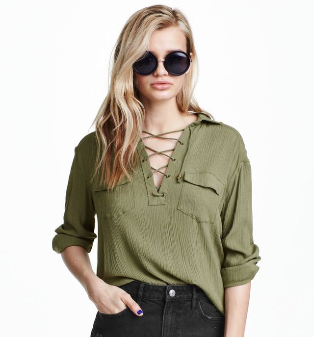 H&M Shirt with Lacing