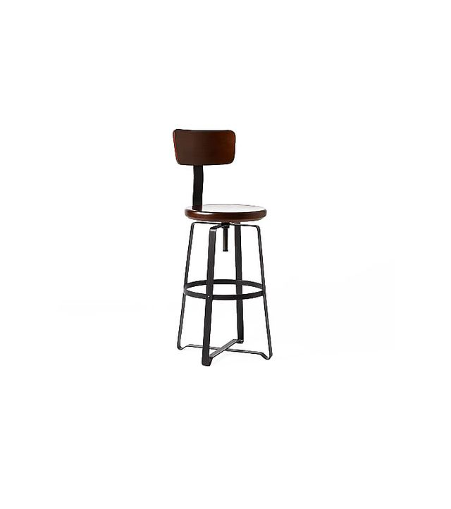 West Elm Adjustable Rustic Industrial Stool