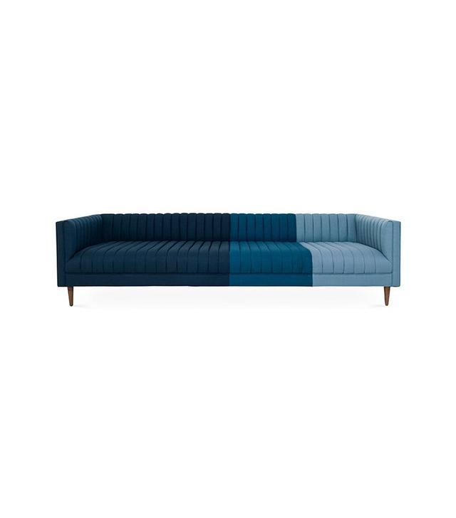 Iona Ombré Blue Linen Sofa