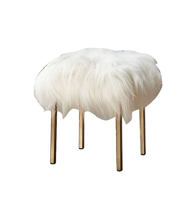 CB2 Sheepskin Stool