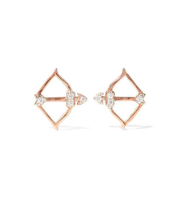 Aamaya By Priyanka Cupid Rose Gold-Plated Topaz Earrings
