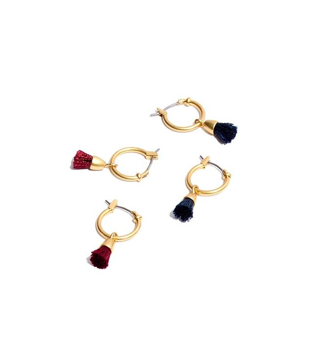 Madewell Two-Pack Tassel Hoop Earring Set