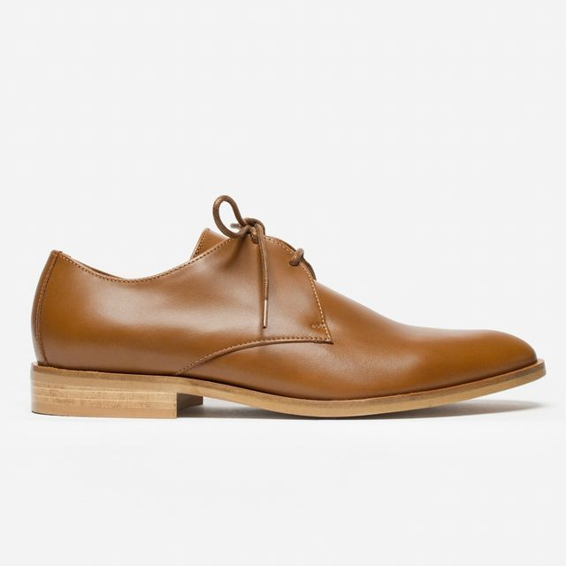 Everlane The Modern Oxford in Cognac