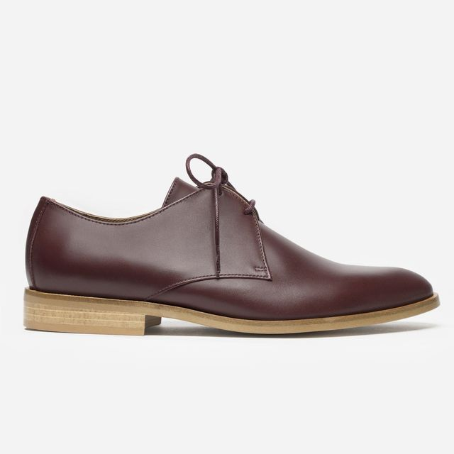 Everlane The Modern Oxford in Oxblood