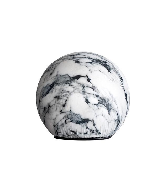 Maurizio Galante Tattoo Pouf with Carrara Marble Print