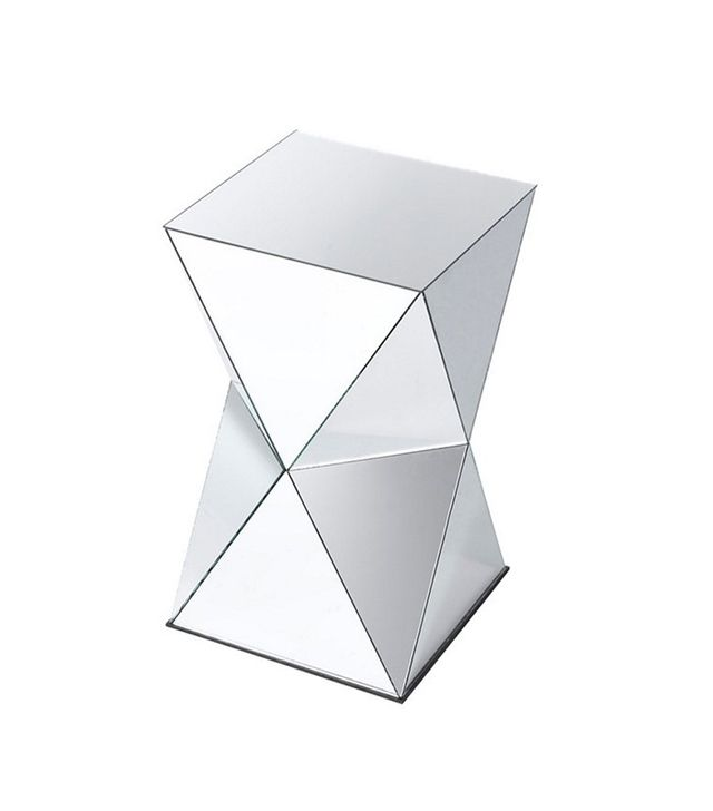 Orchid Creek Designs Geometric Mirrored Side Table