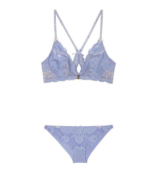 Heidi Klum Intimates Made in Eden Demi Wire Bra($65) and Bikini Briefs($35) This lavender hue is perfectforgirls with ultra-feminine style.