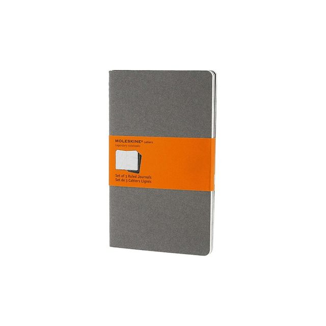 Moleskine Cahier Set Of 3 Ruled Notebook Large