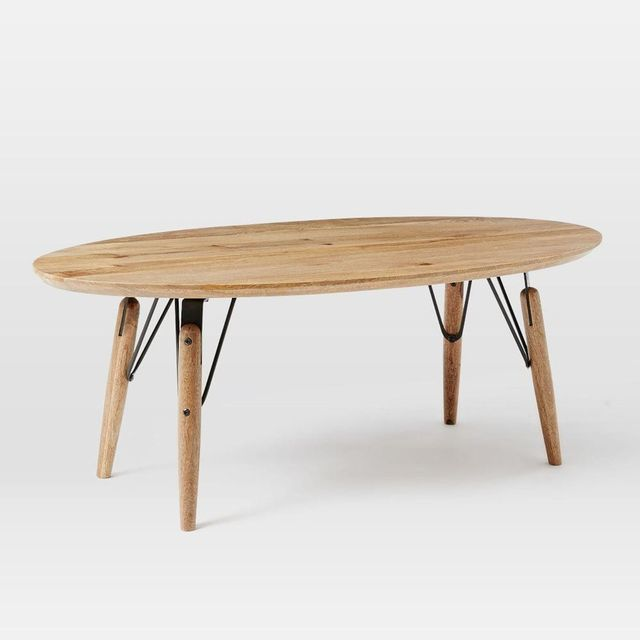 West Elm Graphica Oval Coffee Table