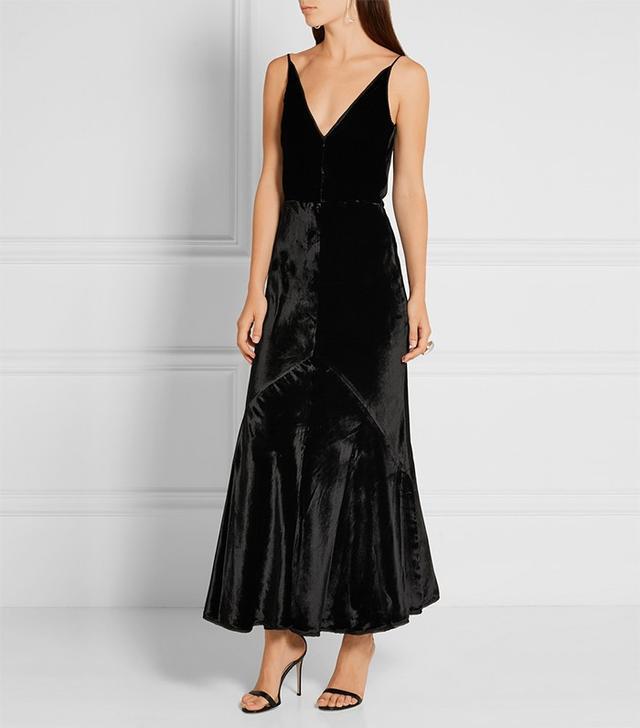 Gabriela Hearst Bridget Velvet Maxi Dress