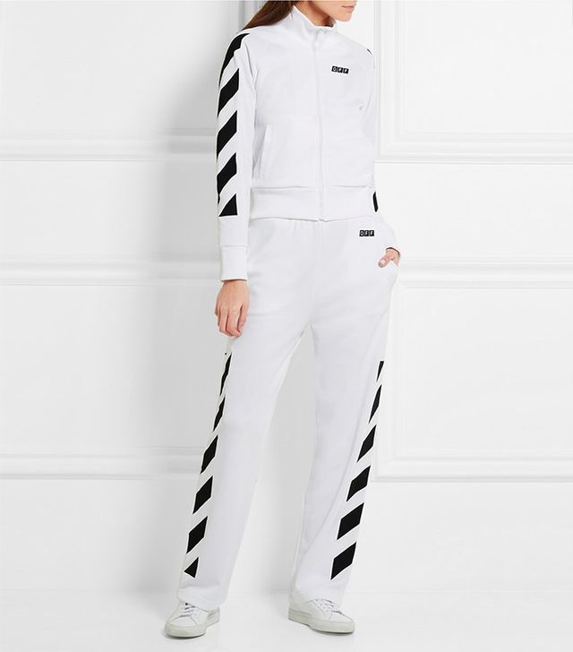 Off-White Printed Cotton-Blend Jersey Jacket