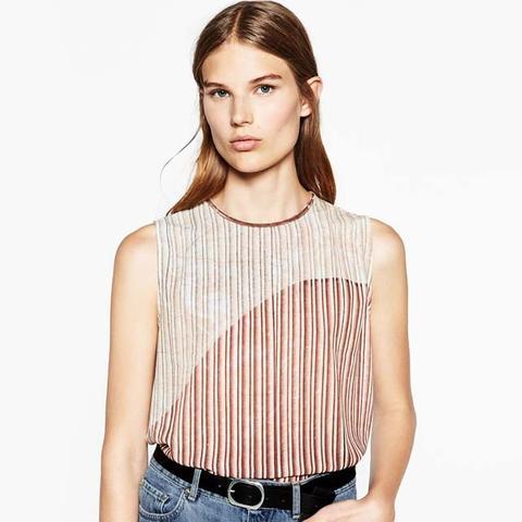 Foil Pleat T-Shirt